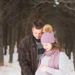 Séance maternité avec Sarah en extérieur en hiver - Jarmila Guivarch Photographe à Val-d'or