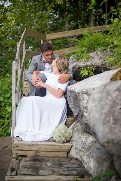 Mariage au bord de l'eau, Val-d'or
