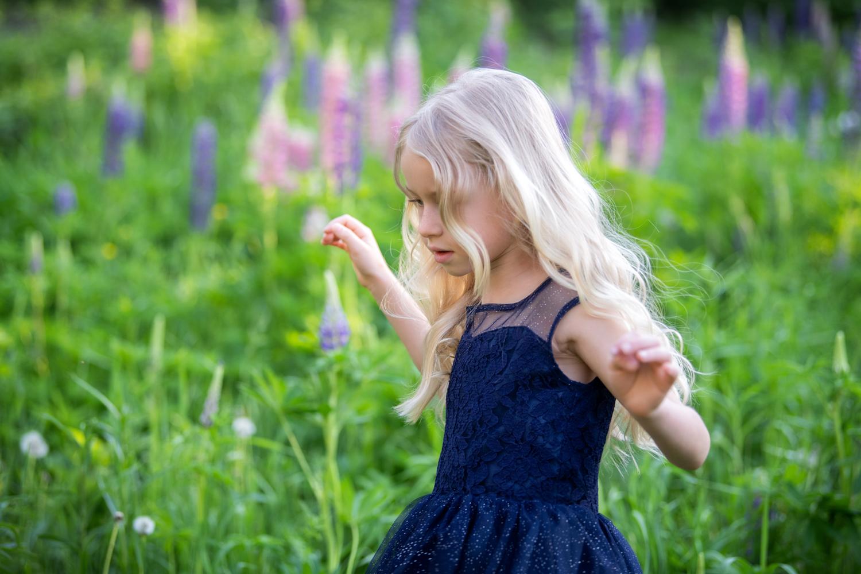 séance fille robe de princesse, été, photographie