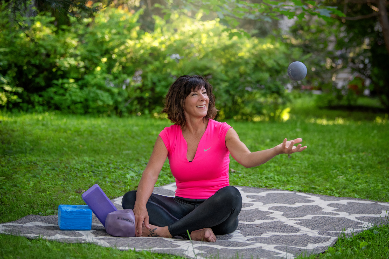 Séance corporative yoga été